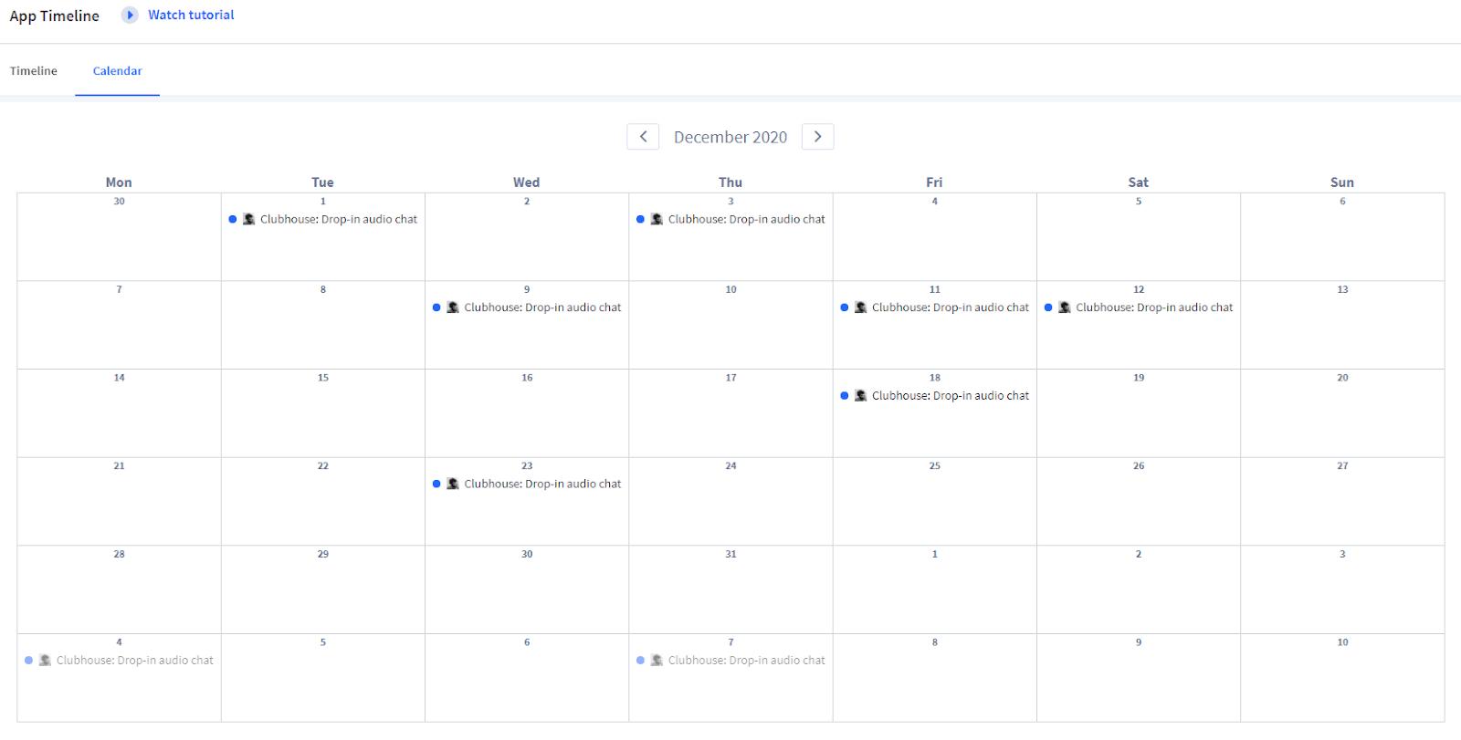 Clubhouse App Store Update Calendar