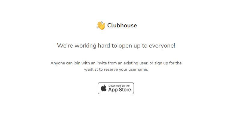 Clubhouse Website Screenshot