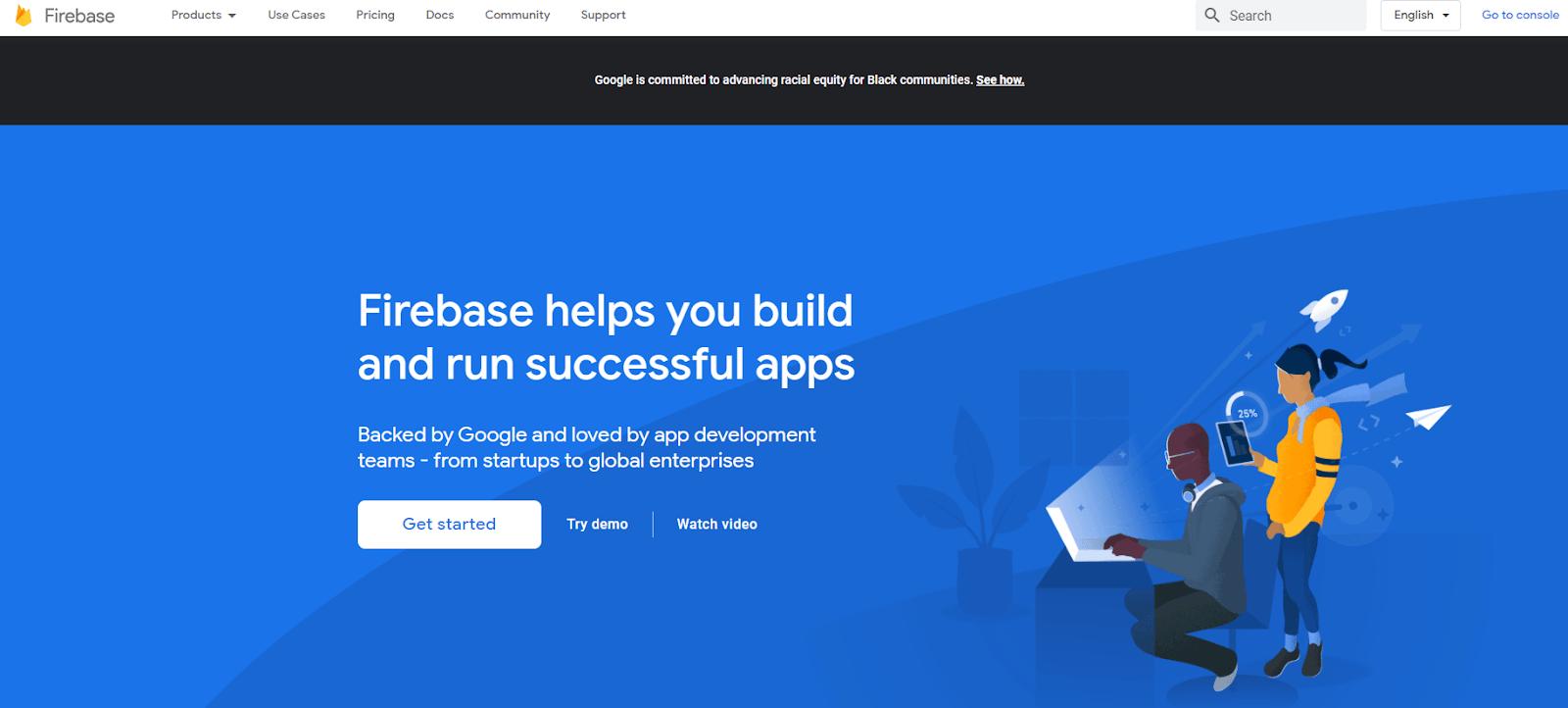 Firebase By Google Screenshot