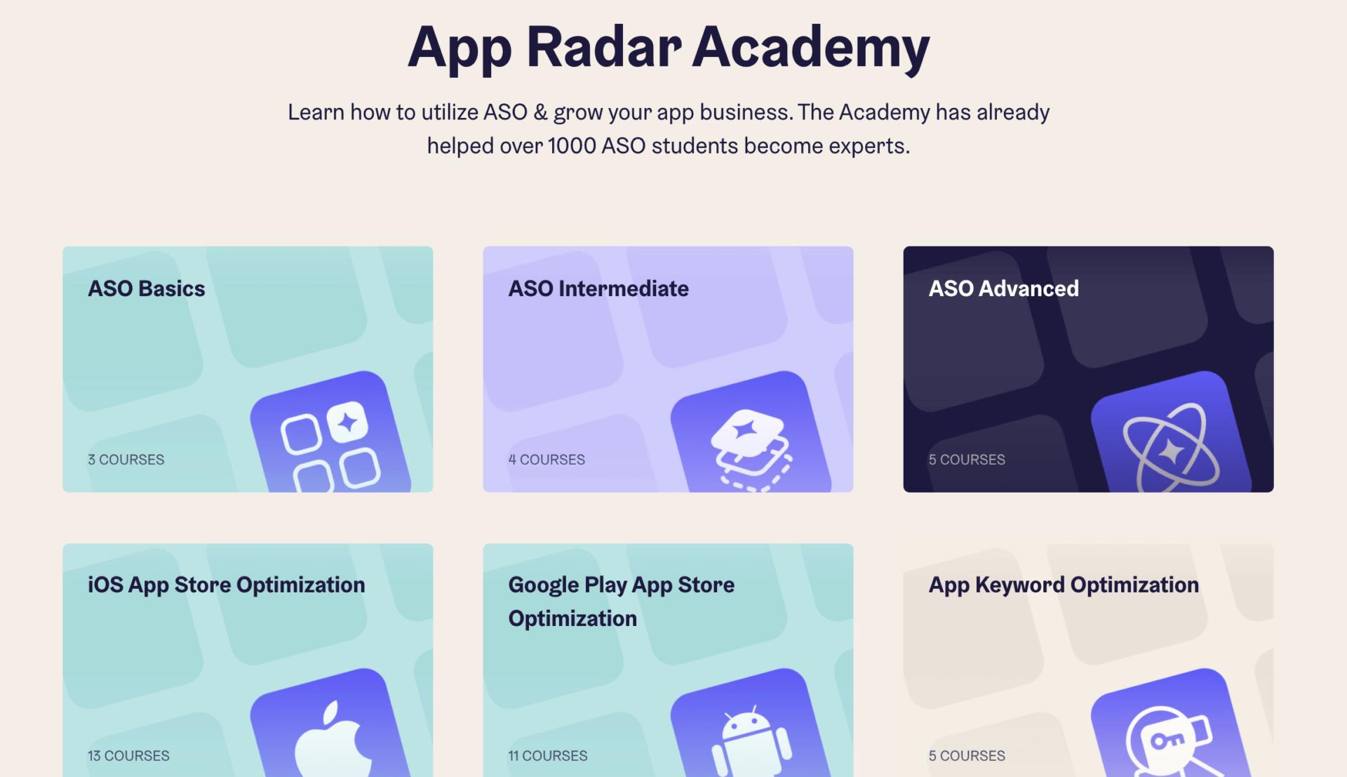 App Radar App Store Optimization Academy