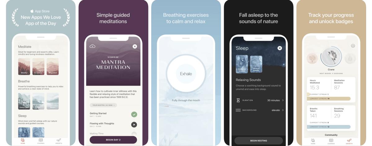 Oak App Optimized Screenshots