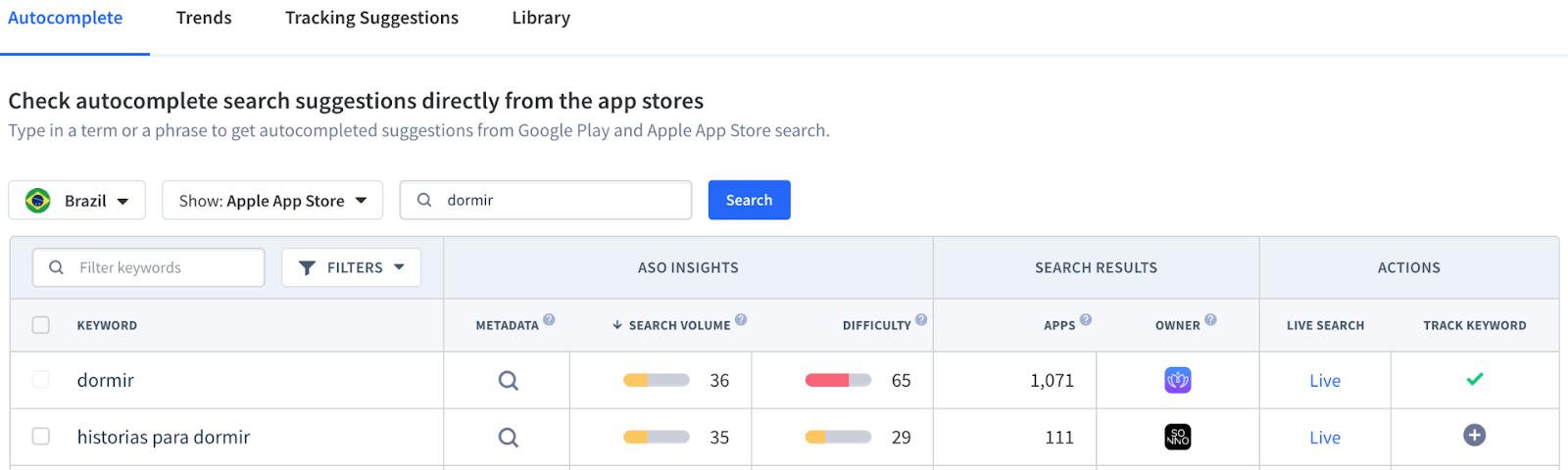 Keyword Finder Feature App Radar