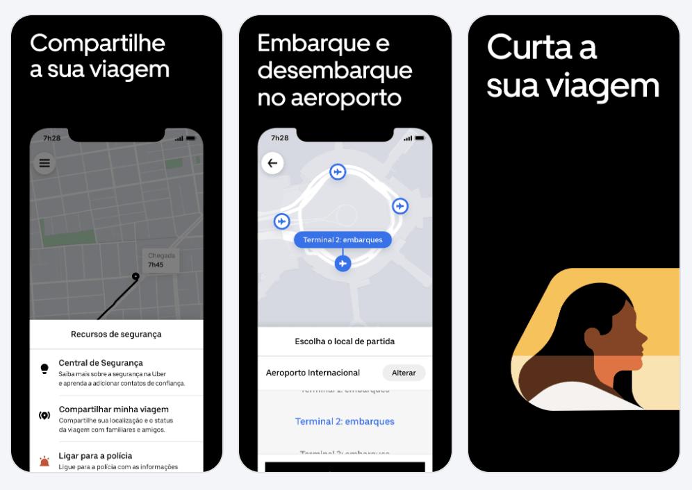 Uber Brazil Screenshots Apple App Store