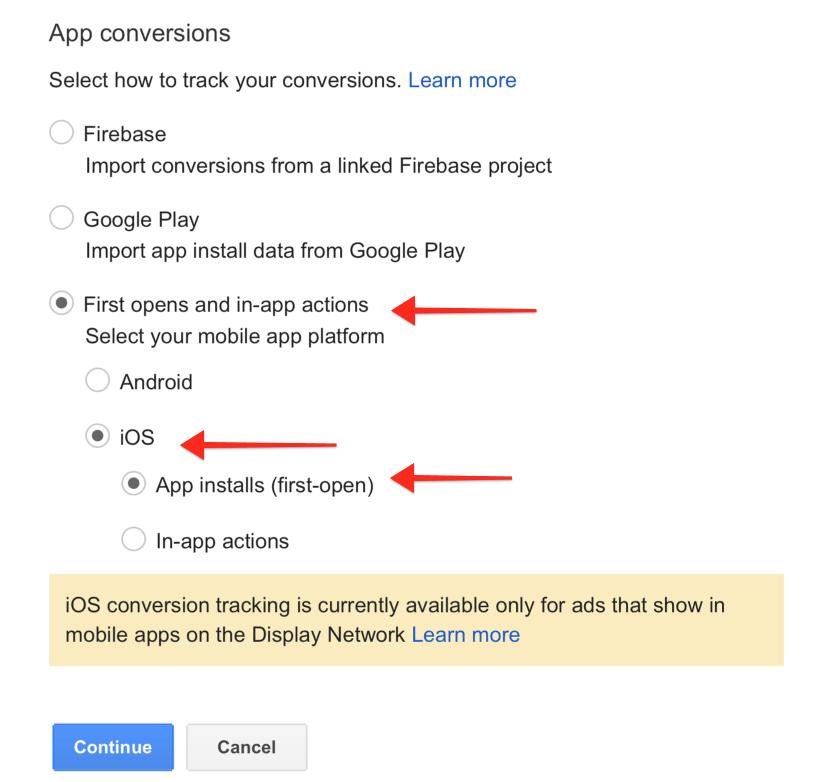 Conversion Tracking Optionen Fuer Google App Campaign
