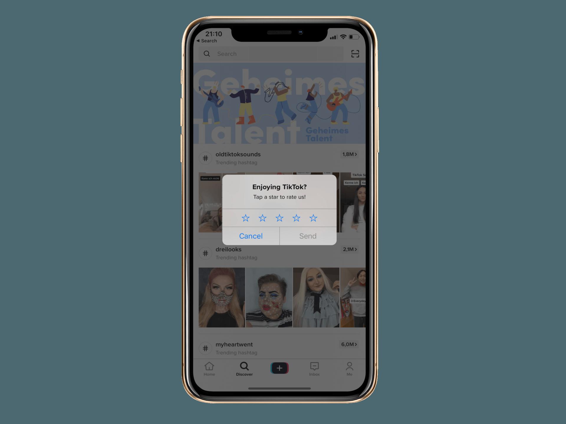 App Bewertung Fragen