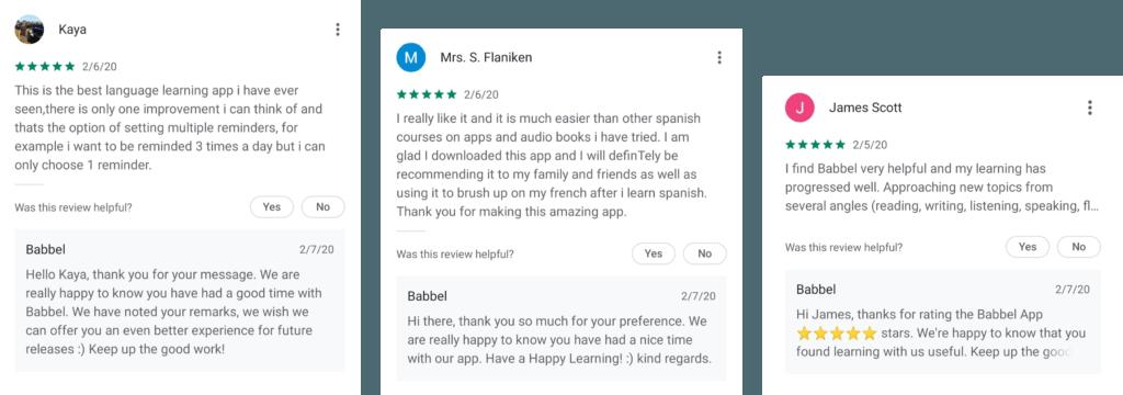 App Brand Bewertungen Antworten