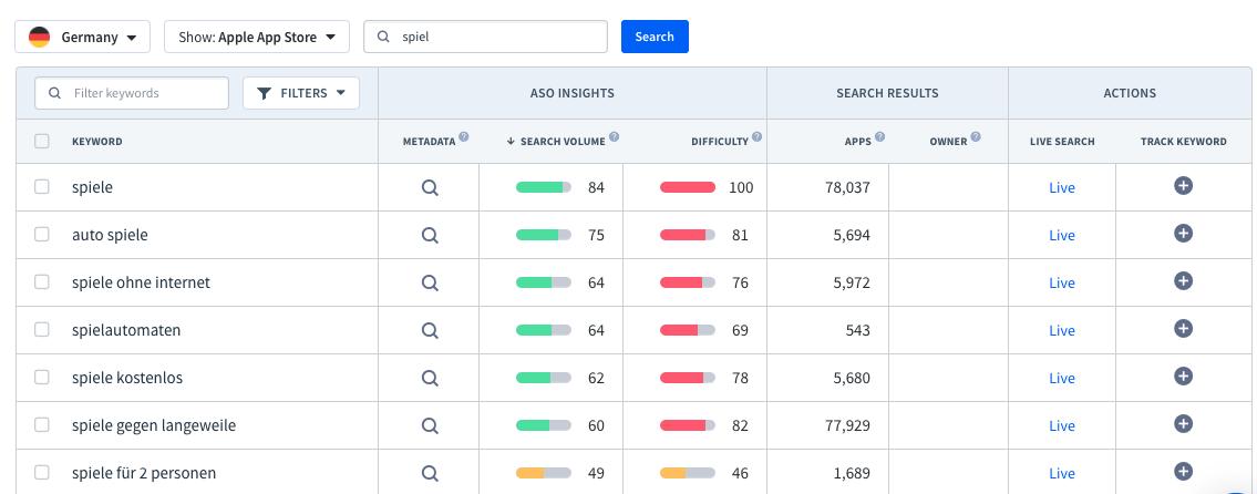 App Radar Keyword Finder Lokalisierte Keywords Zu Finden