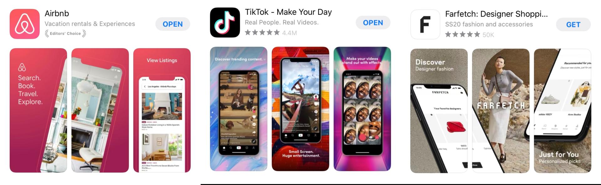 App Screenshot Beispiele