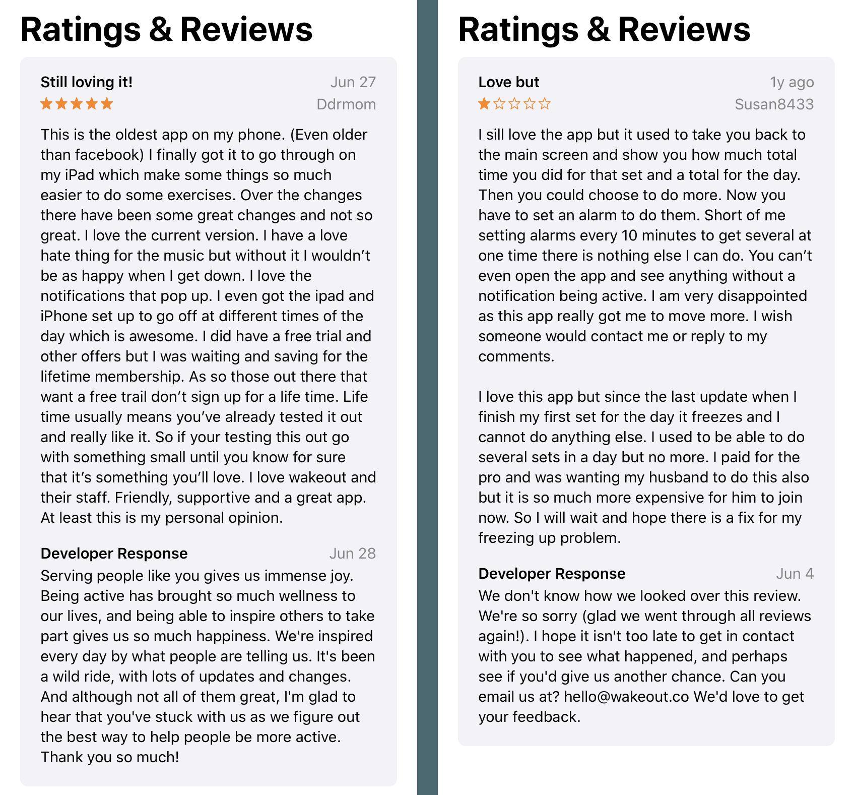 App Store Und Google Play Bewertungen Konversationsraum