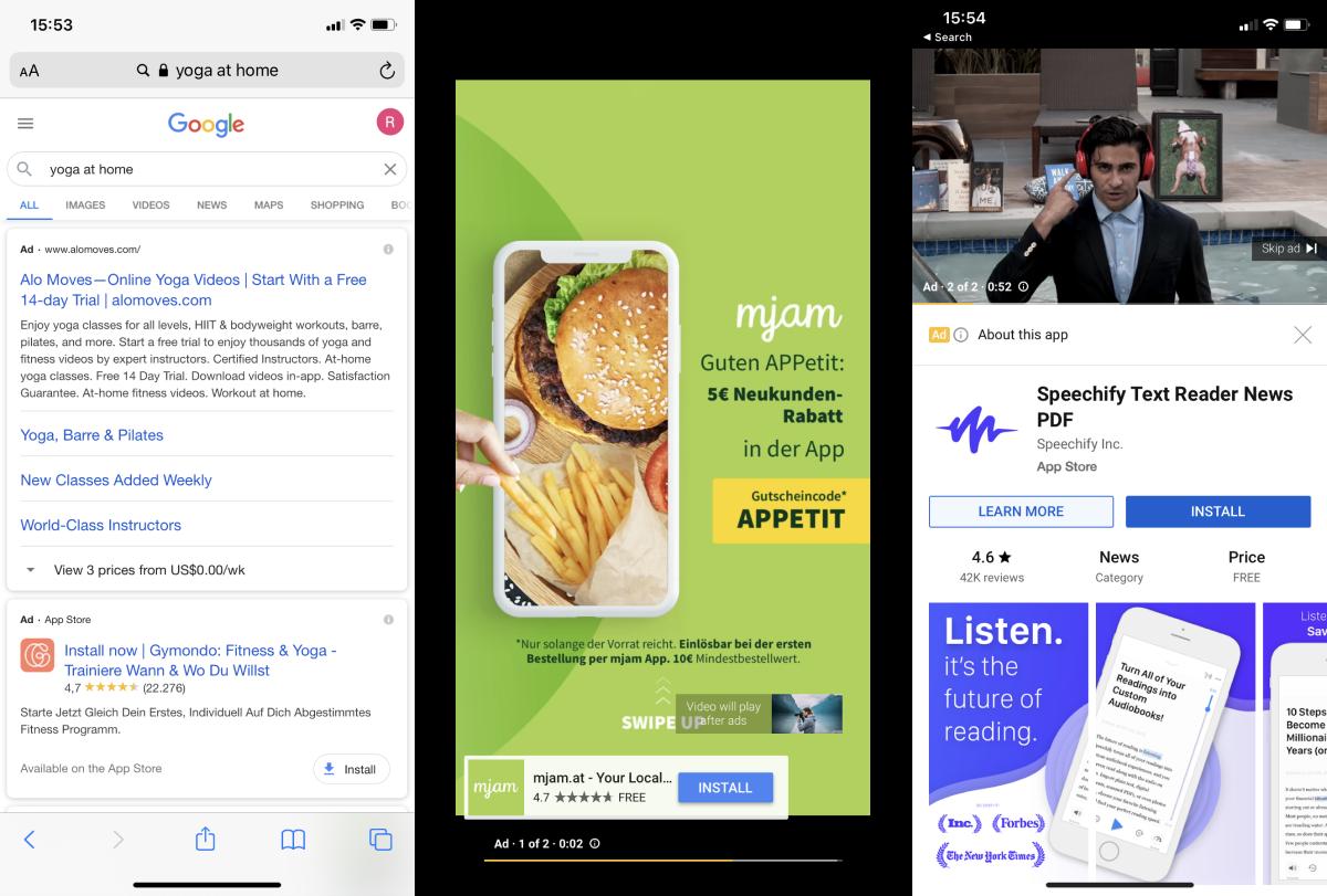 Beispiele App Werbung
