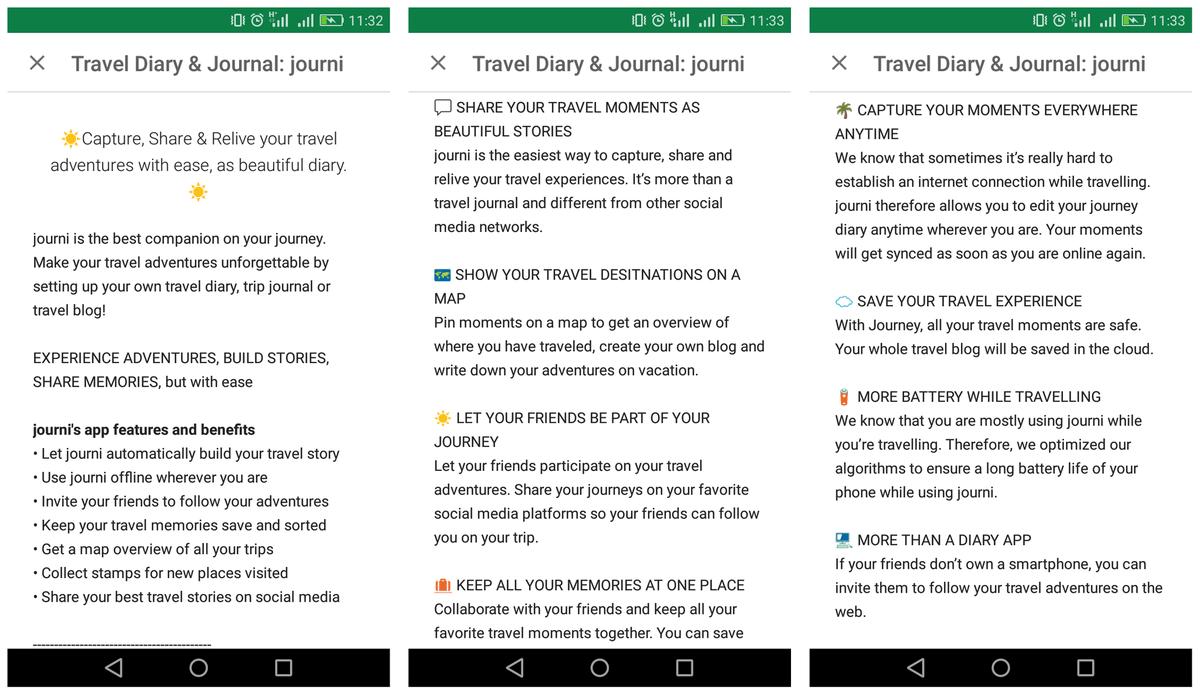 Google Play App Beschreibung Journi Thumb