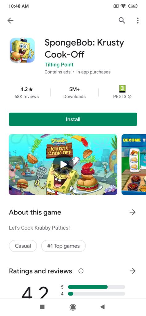 Google Play App Video Beispiel