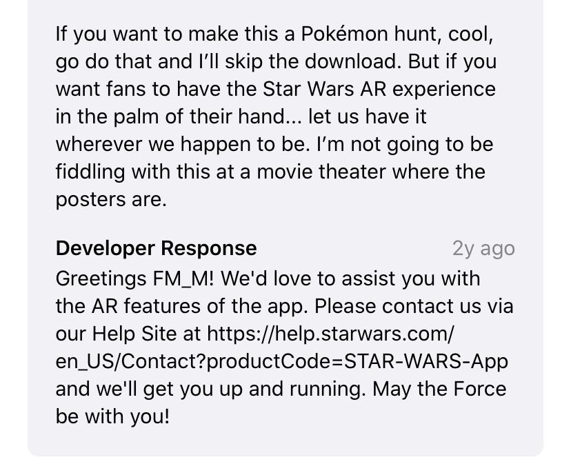 Gutes Beispiel Nutzerbewertung Star Wars