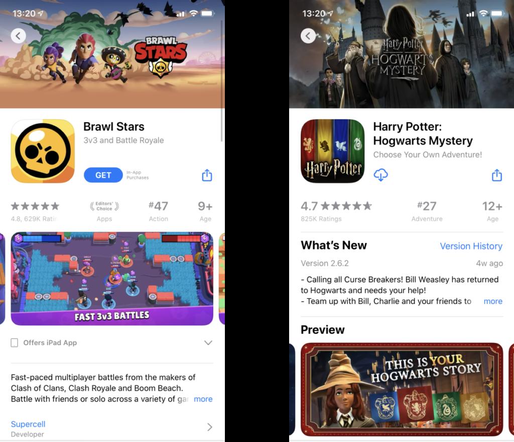 Handyspiele Querformat App Screenshots