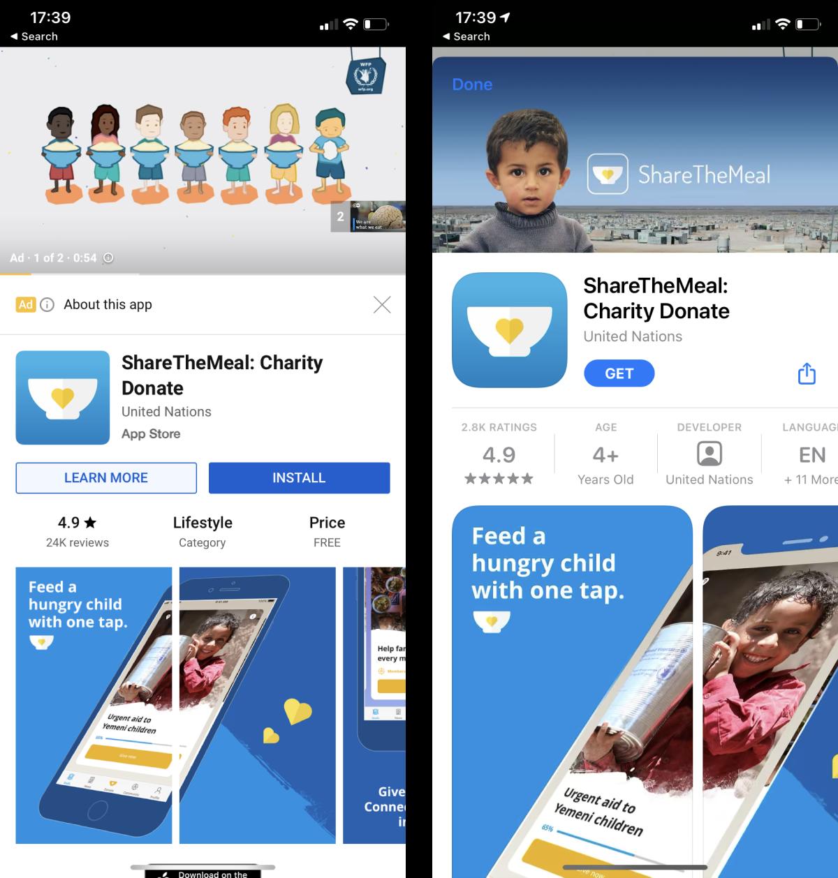 Share A Meal App Werbung Beispiel