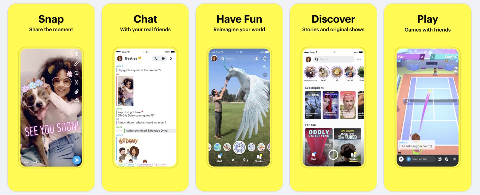 Snapchat App Store Screenshots De