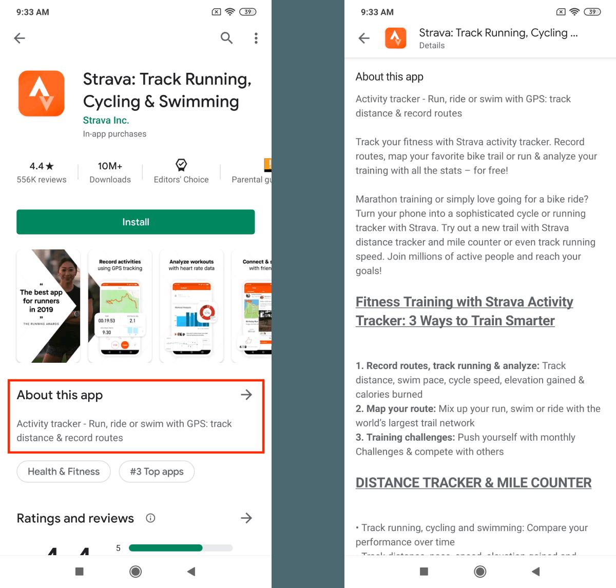 Wiederhole Keywords Lange Beschreibung Google Play