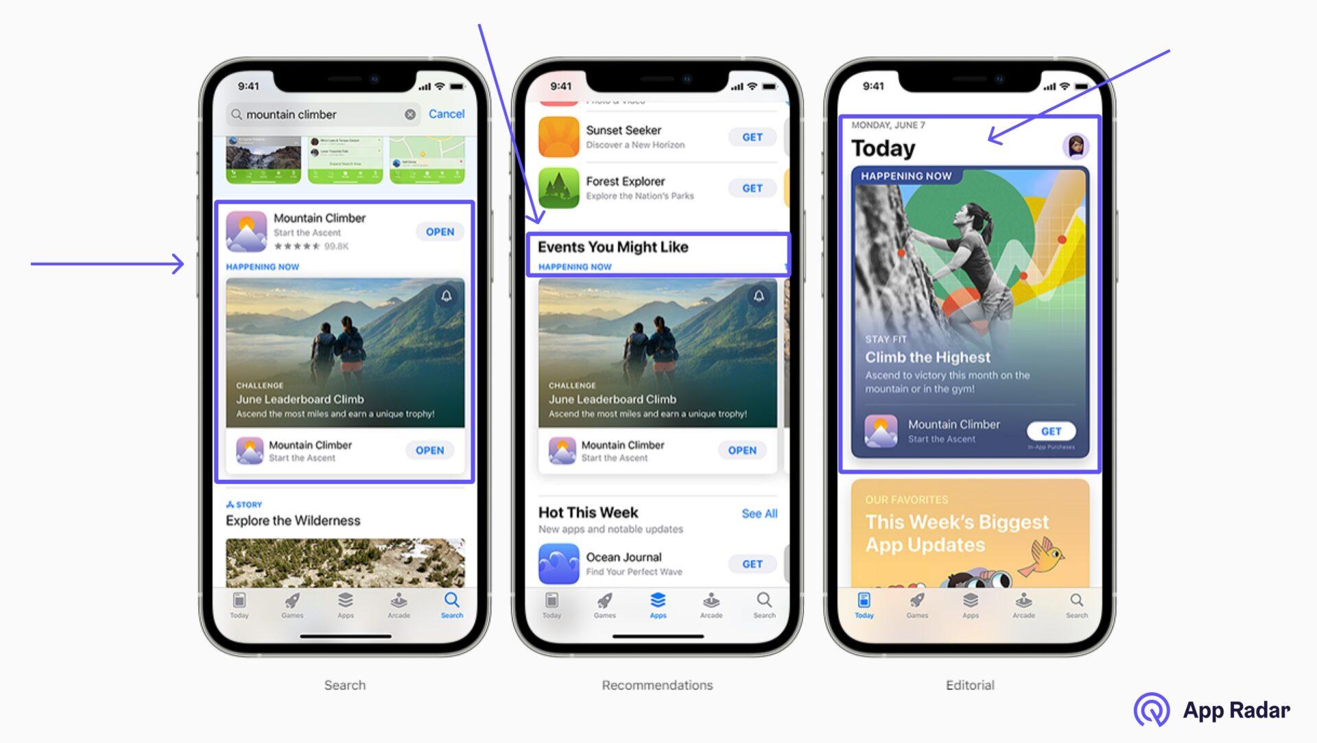In App Events Apple App Store