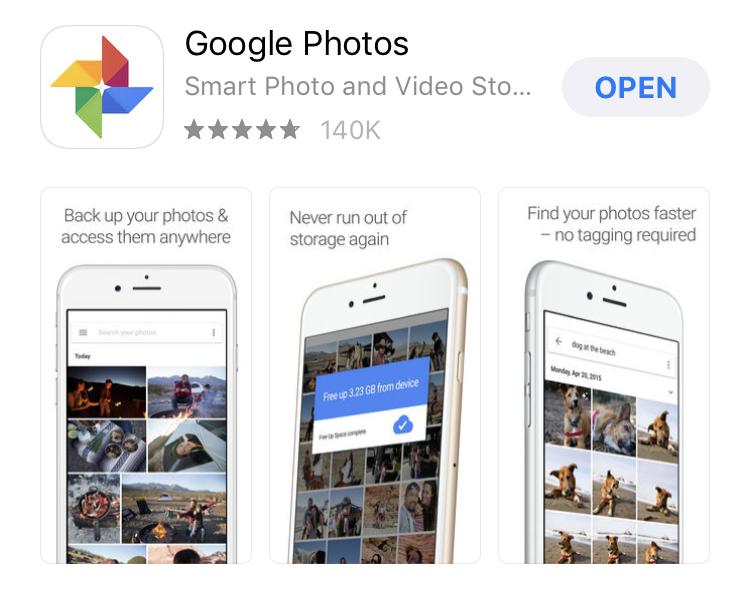 Google Photos App Single Portrait App Screenshots Layout