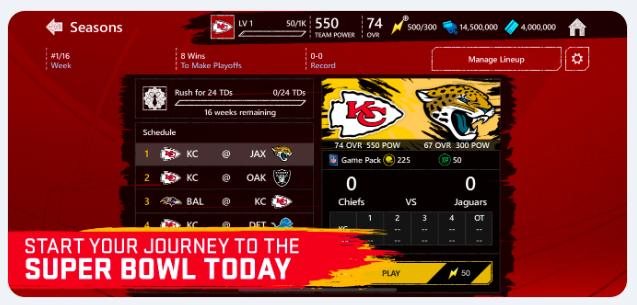 Madden NFL Mobile Football App Store Screenshot for Super Bowl LIV